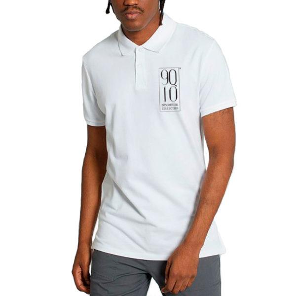 9Q10 –  Men's white GOLF POLO SHIRT